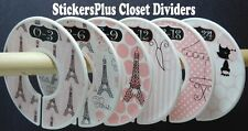Custom Closet Size Dividers Clothes Organizer Baby Toddler Girl Paris Pink Black