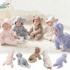 Kids Baby Hooded bag feet Romper bodysuit winter warm one piece Jumpsuit Outfits