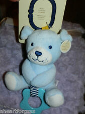 CARTERS BABY CHIME & CHEW PUPPY DOG TOY PLUSH TEETHER ATTACH CHILD OF MINE SOFT
