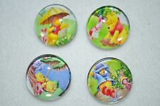 Assorted Winnie The Pooh and Piglet metal snap button covers/18MM-19MM