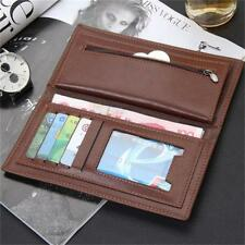 Long Mens Leather Trendy Wallet Pockets Card Clutch Cente Bifold Purse Fashion