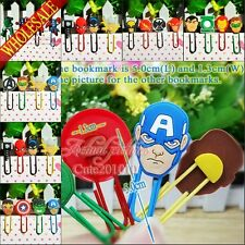 4pcs Marvel's The Avengers Bookmarks  Cartoon Paper clips,School Supplies gifts