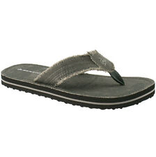 MENS DUNLOP TEXTILE FLIP FLOPS SANDALS SIZE UK 6 - 11 TOE POST GREY DMP999