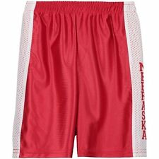 Nebraska Cornhuskers Youth Mesh Basketball Shorts - Scarlet - NCAA