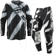 Shift Motocross Trouser Jersey Faction Stroke Black White Cross Mx Fmx Mtb Quad