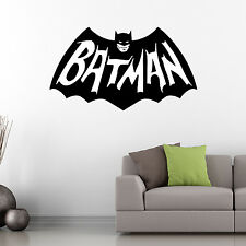 Classic Cool Batman Wall Art Vinyl Sticker Graphic Decal Bedroom Car SuperHeroes