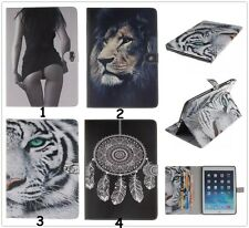 NEW Popular Designs Flip Leather Card Slot Case Cover w/ Stand For iPad Samsung