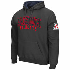 Men's Stadium Athletic Charcoal Arizona Wildcats Double Arches Pullover Hoodie