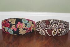 Vera Bradley HAPPY SNAILS or SLATE BLOOMS Clamshell Eyeglass SUNGLASS CASE