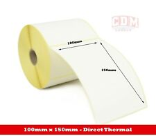 250 - Zebra GK420D - 100 x 150mm Direct Thermal Labels 25mm core