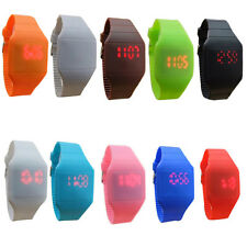 Classics Kids Watch Colorful Jelly Ultra-Thin LED Silicone Sport Wrist Watch New