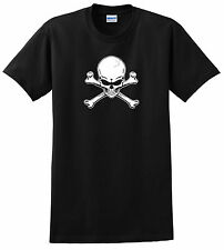 SKULL & CROSSBONES SHIRT BLACK YOUTH ADULT JOLLY ROGER PIRATE S M L XL XXL 3XL 4