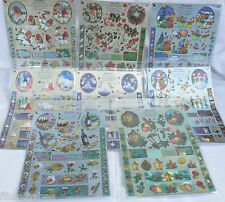 Beautiful A4 Dufex Freestyle DIE CUT Decoupage Sheets Christmas Themes NEW