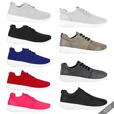 Womens Metallic Floral Fashion Flat Trainers Wedge Sneakers Lace Up Pumps Shoes