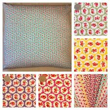 LARGE FLOOR CUSHION COVERS FLORAL AND POLKA DOT 80 CM, 90 CM OR 100 CM.