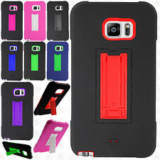 For Samsung Galaxy Note 5 IMPACT Hard Rubber Case Cover Kickstand +Screen Guard