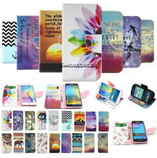 Luxury Painted Flip Leather Wallet Card Stand Case Cover Skin For Samsung Phones