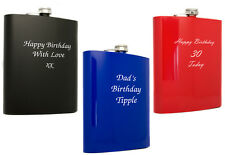 Personalised Large 48oz Stainless Steel Hip Flask, Laser Engraved Birthday Gift