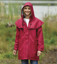 Ladies County Estate Waterproof Cape Coat Rain Jacket Casual Walking Equestrian