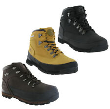 New Mens Groundwork Leather Steel Toe Cap Safety Work Ankle Lace Boots Size 7-12
