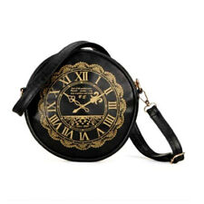 Retro New Clock Watch PU Leather Round Kawaii Handbags Purses Women Shoulder Bag