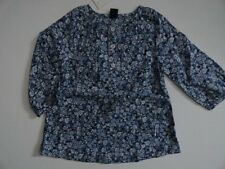 NWT Baby Gap 12-18 18-24 Blue Floral Tunic Top Long Sleeve