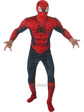 Adult Marvel Deluxe Padded Muscle Chest Spiderman Outfit Fancy Dress Costume