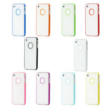 For iPhone 4 4S Ultra Thin Transparent Crystal Clear Hard TPU Back Case Cover