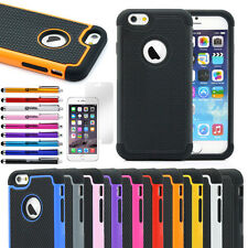 """For Apple iPhone 6 4.7"""" 6 Plus 5.5"""" Rugged Hybrid Rubber Matte Hard Case Cover"""