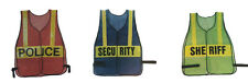 Sheriff Police EMS Crossing Guard Orange Blue Green DELUXE Traffic Safety Vest