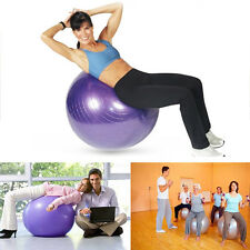 Healthy Women Fitness Yoga Aerobic Exercise Ball Muscle Gym Abdominal Ball Pump