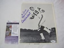 GREEN BAY PACKERS LOMBARDI ERA DALE HACKBART AUTOGRAPH WITH CERTIFICATION    T*