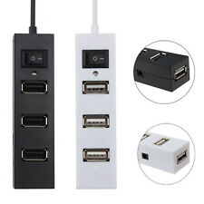 For PC Laptop Computer 1PC High Speed 4 Port USB 2.0 Hub With Power Switch