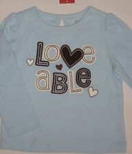 Gymboree Girls Best Friend Top Shirt 12-18 months New blue loveable Twins Nwt
