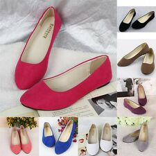 Women Flats Shoes Ballet Loafer Suede Slip on Slipper Moccasin Pointed Ballerina