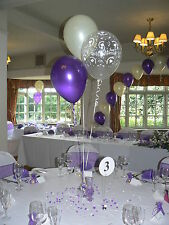 Wedding Balloons - 15 Table Decorations - Hearts Design - Many Colours - DIY Kit