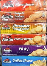 Austin Sandwich Filled Crackers Snack ~ One Package