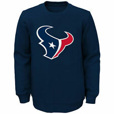 Houston Texans Youth Prime Fleece Crew Pullover Sweatshirt - Navy - NFL