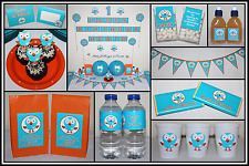 ** GIGGLE & HOOT PERSONALISED Birthday Party Decorations Scene Setter Owl ABC **