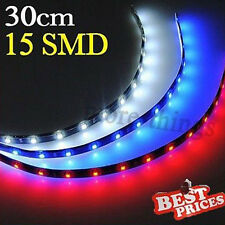 30cm 15 SMD LED Car Van Auto Flexible Neon Grill Light Lamp Strip 12V Waterproof