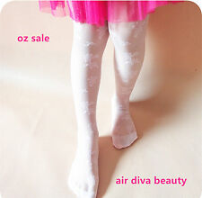 Girl Kid Children Dance Embroidery Sheer Stockings Pantyhose Tights Opaque 3-12y