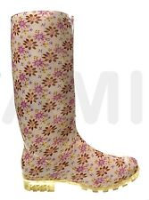 LADIES FUNKY FLOWER WELLIES BOOTS SNOW RAIN SIZES 3 4 5 6 6.5 7  V FESTIVAL P355