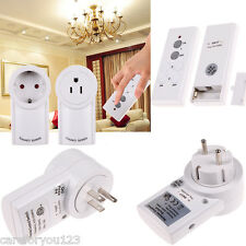 Wireless Remote Control Outlet Electrical Power Light Plug Switch Socket 1 Pack