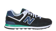 New Balance Mens 574 Sneakers Black Blue Green ML574MON