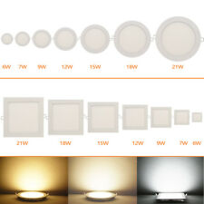 Dimmable LED Recessed Ceiling Panel 6W/9W/12W/15W/18W/21W Down Lights Spot Lamp
