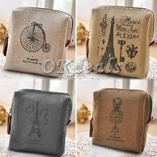 Retro Classic Women Men Canvas Purse Zip Wallet Small Coin Bag Case Pouch Holder