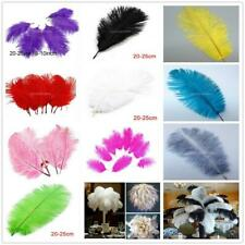OSTRICH FEATHERS, PACK OF 10 (APPROX 8''-10' /20-25cm LONG) BEAUTIFUL COLOURS