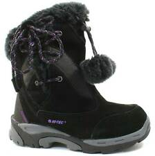 GIRLS HI-TEC THERMAL WATERPROOF BOOTS SIZE UK 1 - 2 SNOW WINTER BLACK VAIL LACE