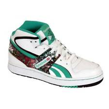 New Reebok Pro Legacy Mid Womens Hi Top Trainers White Green Black Retro Sneaker