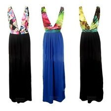 Maxi Dress Ladies Multicolour Leopard Animal Strap Summer Stretch Size 8-14